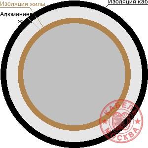 АВВГнг 1х70 белый